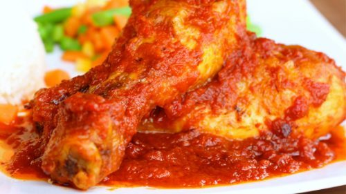 Baked Chicken In Tomato Sauce