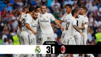 Real Madrid vs Ac Milan 3-1 Highlights