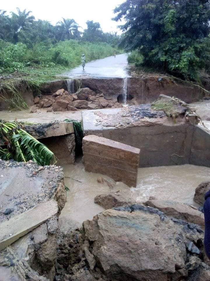 Residents Lament As Heavy Downpour Washes Off Ondo Bridge (Photos)