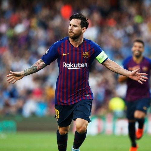 CL: Messi Scores Hat-trick As Barca Maul PSV; Icardi, Vecino's Late Strikes For Inter Sink Spurs