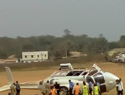 Video Helicopter carrying Osinbajo crash lands in Kabba