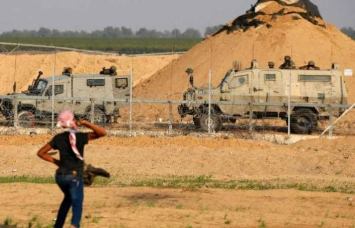 Israel said Sunday that work to strengthen its border with the Gaza Strip had entered a new phase, with construction starting on a massive new barrier along the frontier.