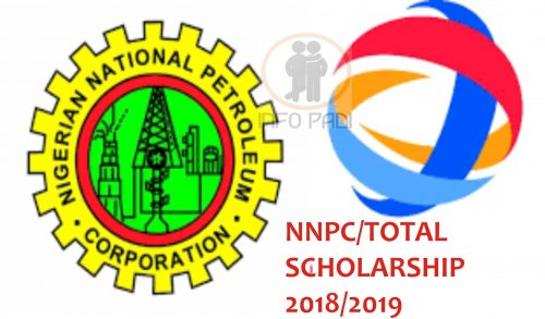 TOTAL/NNPC International Scholarship for Postgraduates in Nigeria, 2019