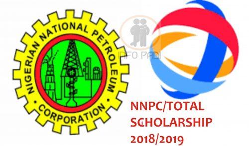 TOTAL/NNPC International Scholarship for Postgraduates in Nigeria, 2019
