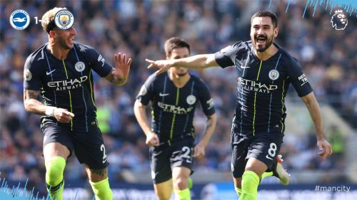 Brighton vs Manchester City 1-4 Highlights And Goals